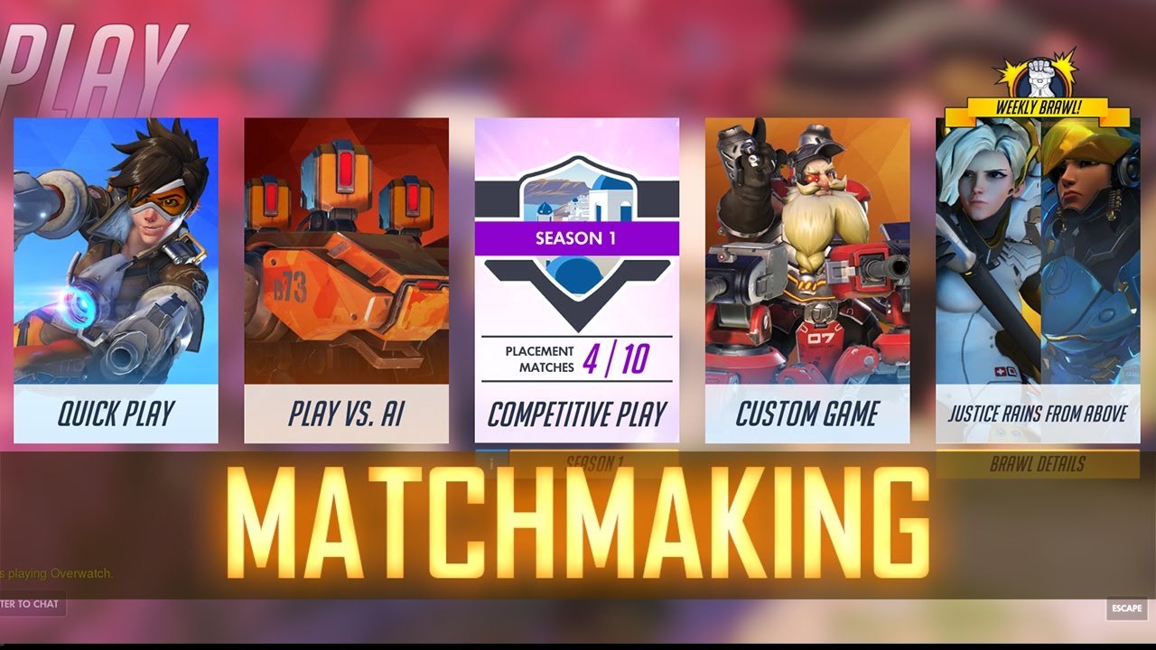 How Does Matchmaking Work In Overwatch