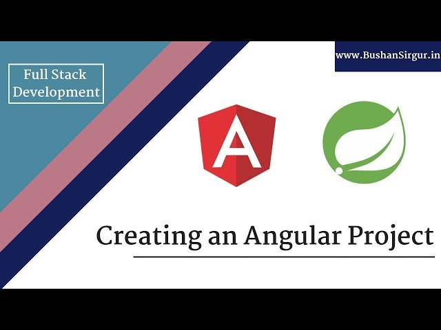 Angular and Spring MVC CRUD Tutorial - Creating an Angular Project - Part 13
