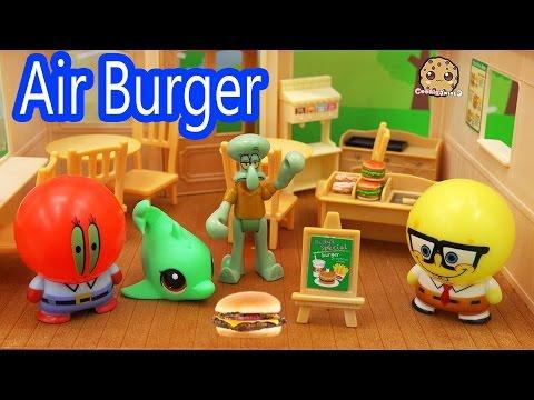 Bubblehead Spongebob Squarepants New Air Burger At The Krusty Krab Toy Play Video Cookieswirlc