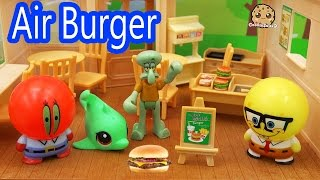 Bubblehead Spongebob Squarepants New Air Burger at the Krusty Krab Toy Play Video Cookieswirlc