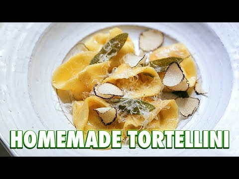 How To make Pasta: Ricotta and Caramelized Onion Tortellini.