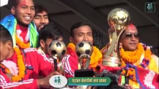 Nepali football team arrives home