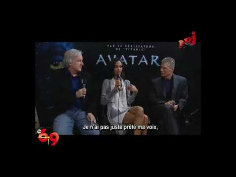 Avatar - James Cameron, Zoe Saldana and Stephen Lang - Interview by Le 6/9 - NRJ - ENG - VO.ST.FR