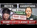 Efren Bata Reyes v Shane Van Boening ᴴᴰ 2017 Derby City Classic 9 ball Pool Round 8