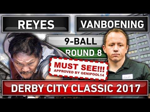 Efren Bata Reyes v Shane Van Boening ᴴᴰ 2017 Derby City Classic 9-ball Pool Round 8