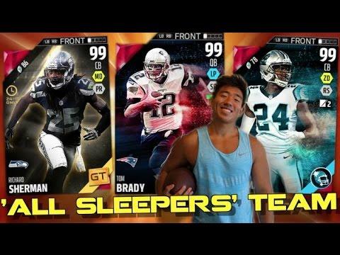 "ALL ""NFL SLEEPERS"" TEAM! BRADY, ANTONIO BROWN, & MORE! Madden Ultimate Team 16"