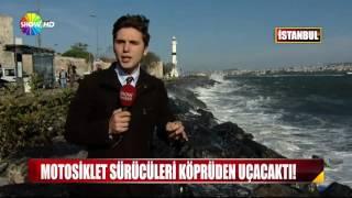 İstanbul'u lodos çarptı