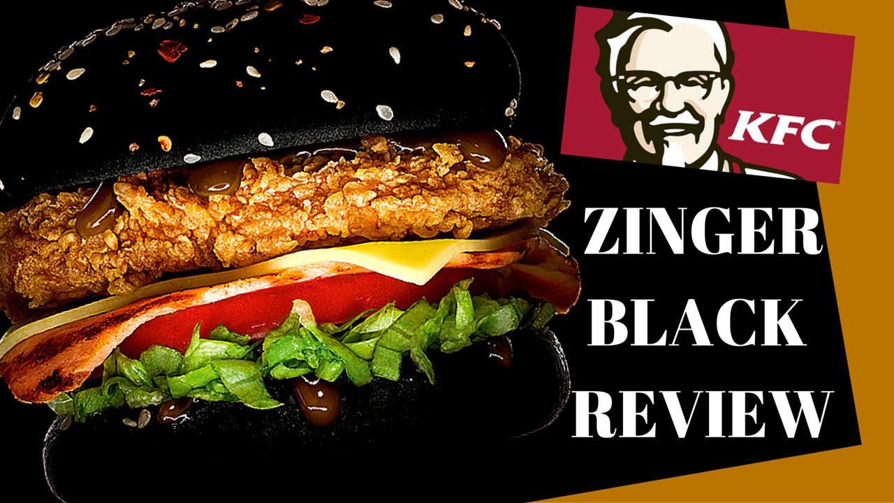 Kfc Black Person: I TRIED THE KFC ZINGER BLACK!!!!!!