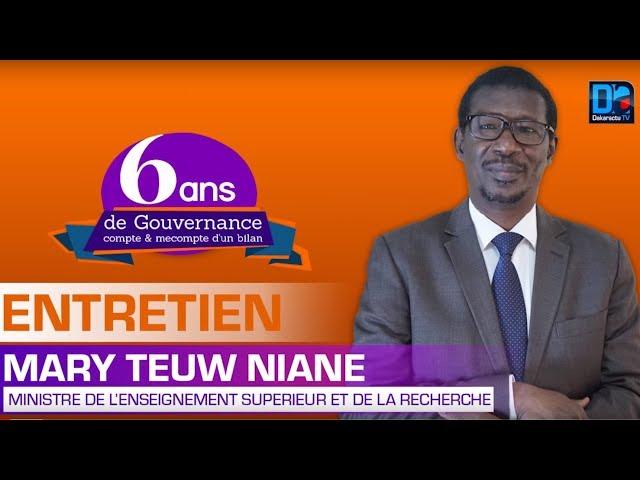 6ans de Gouvernance Mary Teuw Niane