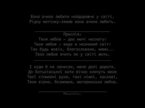 Микола Мозговий - Материнська любов Minus Karaoke