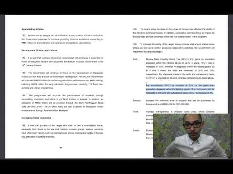 2013 11 05 BUDGET2014   5  RPGT For Foreigners And Its Impact