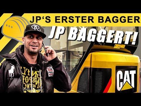 🔥JP baggert mit Minibagger im Einsatz auf der Baustelle - JP Performance auf Bagger