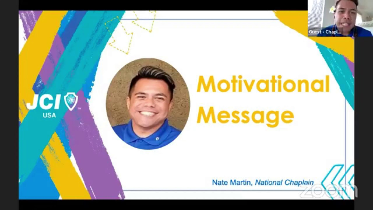 2020Chaplain Nate Martin   Motivational Message