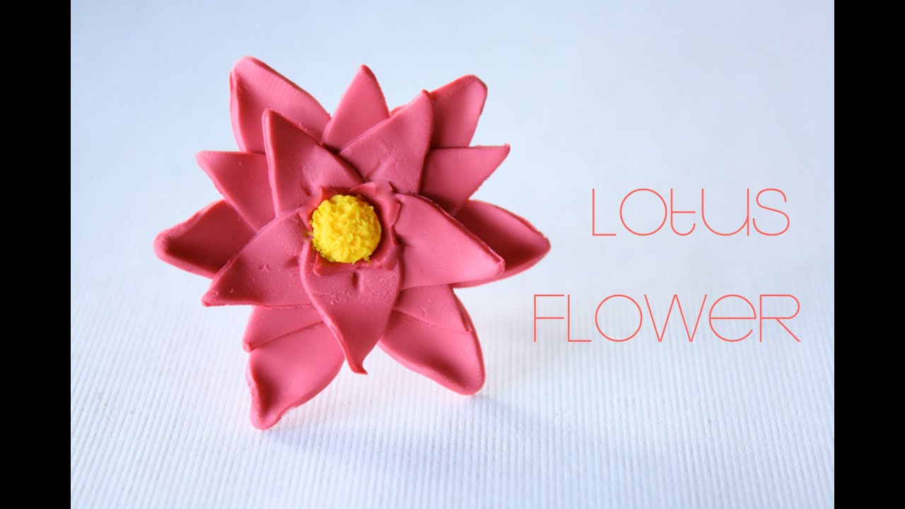 Lotus Flower Polymer Clay Ring Tutorial Youtube