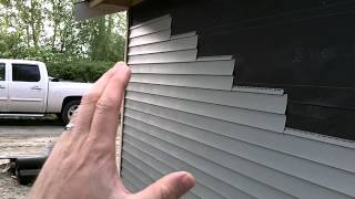 Garage Build Part 12 - Installing Rainscreen, Siding & Trim