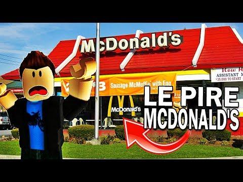 JE DOIS M'ÉCHAPPER DE MCDONALD'S ?! | Roblox !
