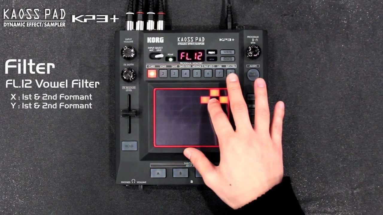 korg kaoss pad kp3 1 3 new effects filter modulation lfo youtube. Black Bedroom Furniture Sets. Home Design Ideas