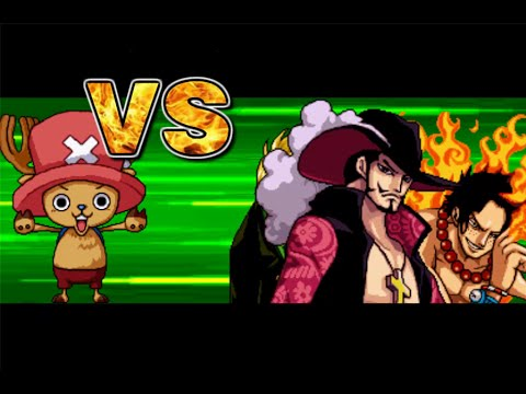 One Piece Hot Fight 0.7 - Chopper VS Dracule Mihawk & Ace & Sanji