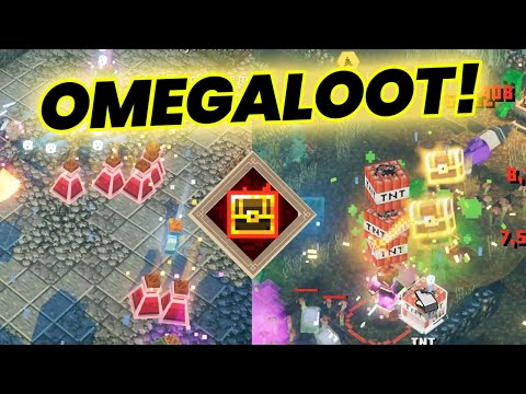OMEGALOOT Each Enemy Drops Loot Daily Trial! | Minecraft Dungeons Funny Moments