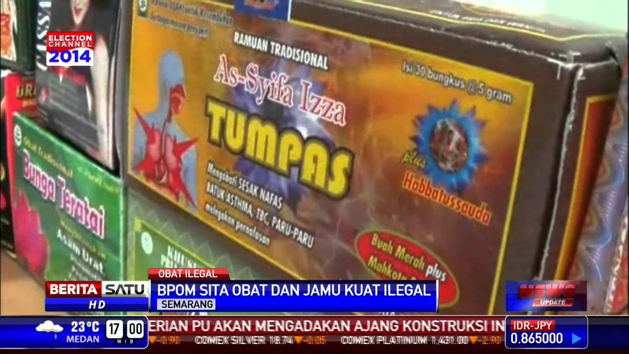 bpom sita jamu dan obat kuat ilegal senilai rp 4 m youtube