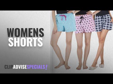 Top 10 Womens Shorts [2018]: Nite Flite Cotton Sleep Shorts - Pack of 3
