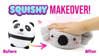 Squishy Makeover WITHOUT Paint or Glue!! Fluffy DIY Squishy Plush