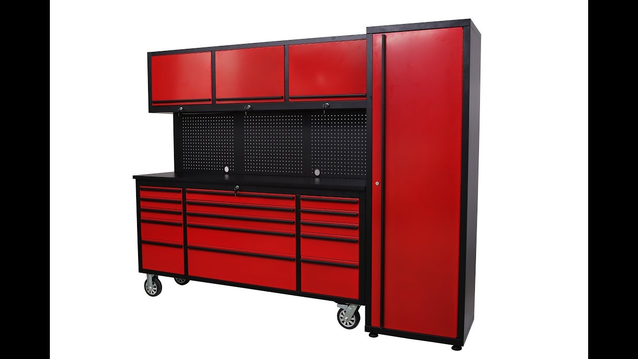 Rouge 6 Foot Tool Cabinet With Pegboard