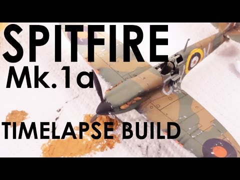 Airfix Spitfire Mk1a Timelapse Build - 1:72 Scale Kit