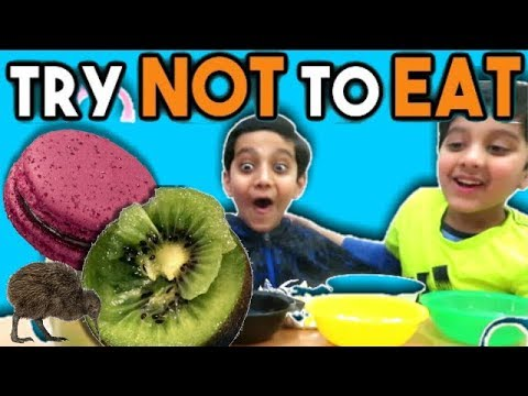 Try Not To Eat Challenge -  Kids vs Food | Brother vs Brother