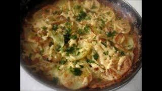 Очень вкусный картофель под соусом