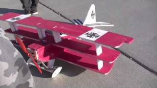 RC Foamie Red Barron Tri-Plane - Build a Foamie