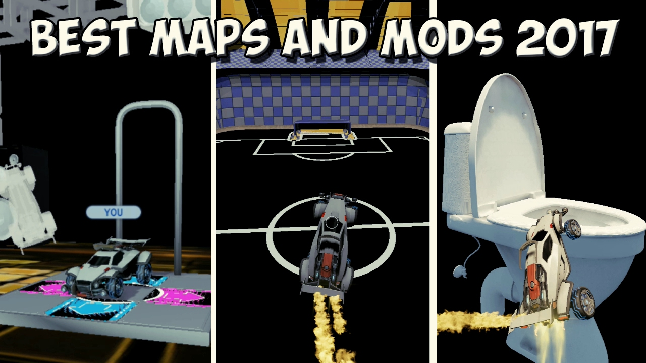 Maps And Mods BEST ROCKET LEAGUE MAPS AND MODS 2017 | Dance Stage, GIANT Toilet