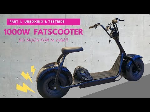 1000w fatscooter unboxing and test ride!