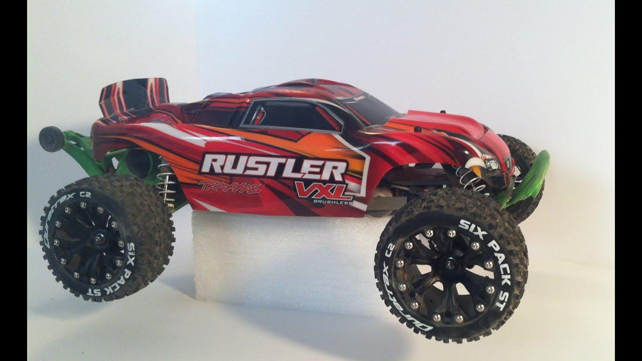 traxxas rustler level 7 upgrade duratrax six pack tires ...