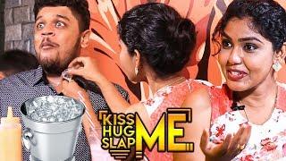 CE BUCKET Challenge By Pandian Stores Hema Rajkumar   Kiss Me 😘 Hug Me 🤗 Slap Me👋 Game  KHS