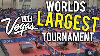 Worlds largest table tennis event   arena tour   las vegas 😱👀