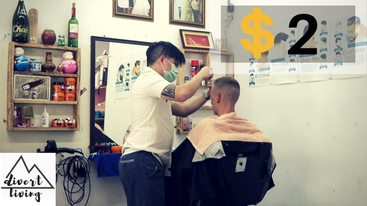2 Usd Cheap Haircut Chiangmai Thailand Youtube