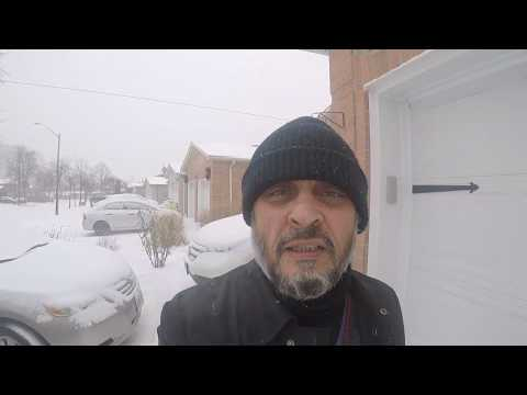 SNOW IN MISSISSAUGA/TORONTO CANADA  19 JANUARY 2019 Large