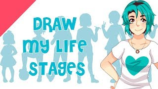 ♡  Draw my life stages - NolightArtist