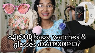 My affordable bags, watches, glasses collection|Must have Bags&watches from Amazon|Asvi Malayalam