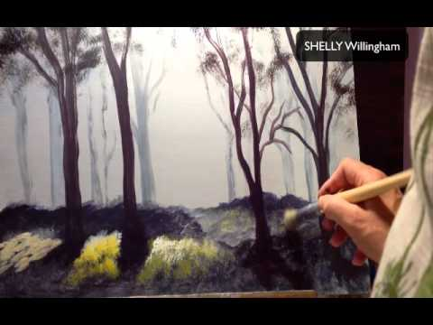 Acrylic painting techniques how to do tim gagnon 39 s misty for Background acrylic painting techniques