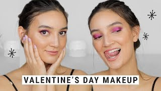 How to Pull Off Purple Eyeshadow with a Natural, Glowy Base | VALENTINE'S DAY MAKEUP