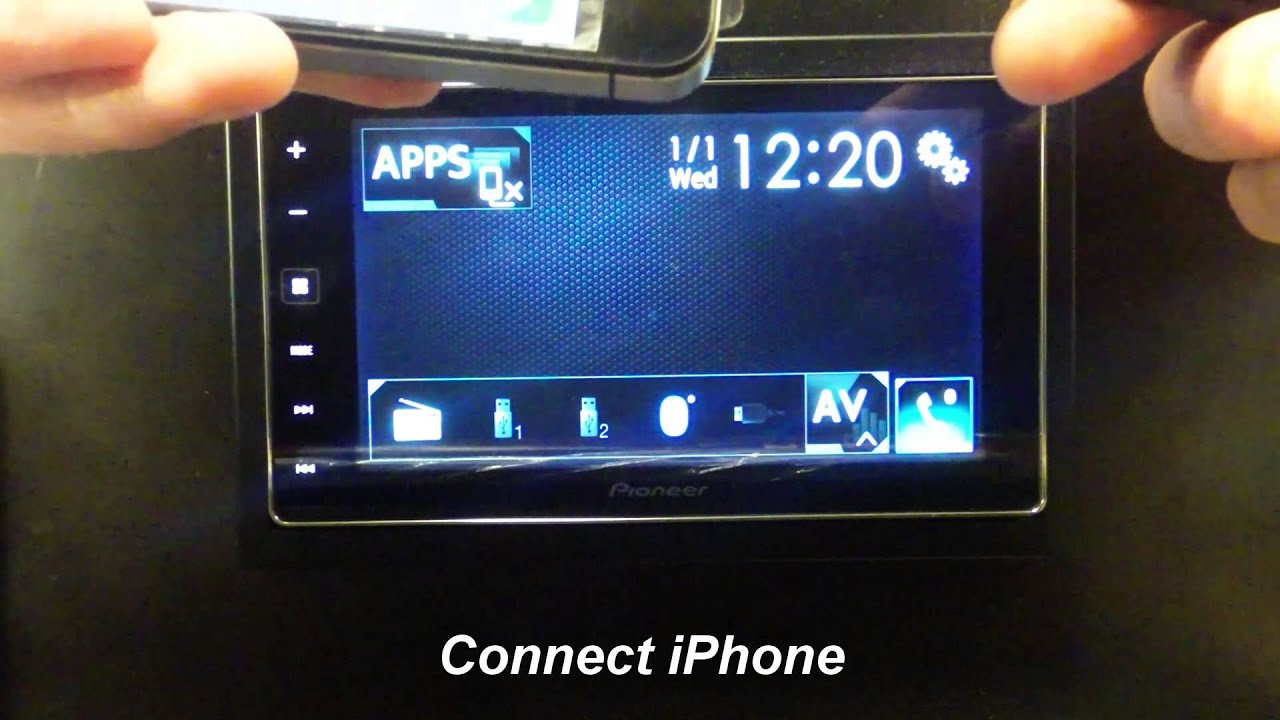 pioneer sph da120 how to connect iphone 4 4s for appradio. Black Bedroom Furniture Sets. Home Design Ideas