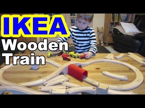 ikea holzeisenbahn lillabo kaufen und spielen wooden train shopping and playing kanal f r. Black Bedroom Furniture Sets. Home Design Ideas