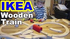 Ikea Holzeisenbahn Lillabo kaufen und spielen/ Wooden Train shopping and playing- Kanal für Kinder