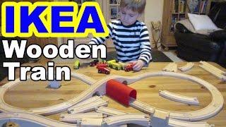 Ikea Holzeisenbahn Lillabo kaufen und spielen/ Wooden Train shopping and playing- Kanal f r Kinder