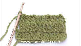 How to work an extended treble crochet