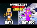 I Survived 100 Days on ONE ASTEROID in Hardcore Minecraft... Here's What Happened