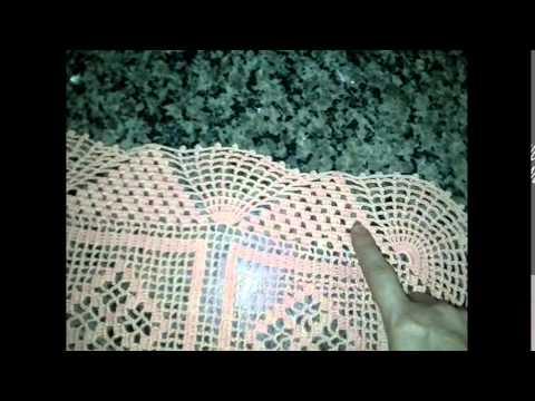 Caminho de mesa em croch part2 bico como se faz por for Pizzi uncinetto per tovaglie