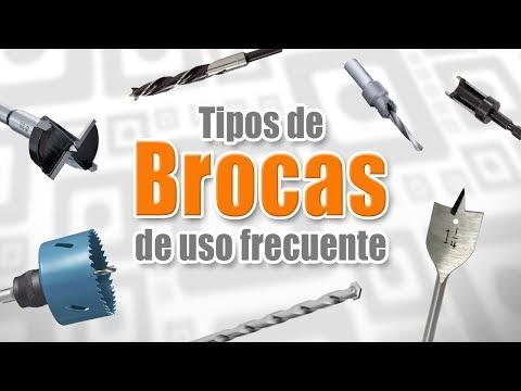Tipos de brocas de uso frecuente - Madera, metal, concreto - Sierra de Copa, Broca Forstner